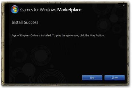 Click Play on the Install Success screen